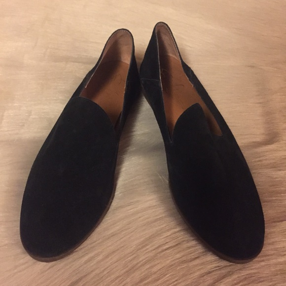 c0dd78892a2 Franco Sarto Shoes - Franco Sarto Black Slip-On Suede Loafers Women s